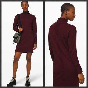 Softer Still Turtleneck Sweater Dress Maroon Soft